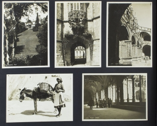 Album of 181 real photo postcards of the Mediterranean. Mediterranean