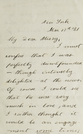 "Autograph Letter Signed (""Theodore Roosevelt""), to Harriet Douglas Robinson (""Dear Missy""),..."