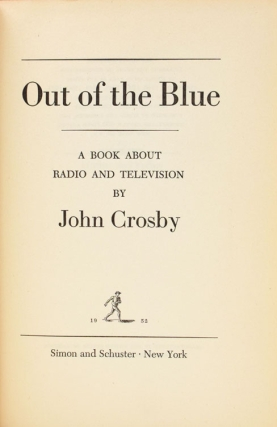 Out of the Blue. A Book about Radio and Television