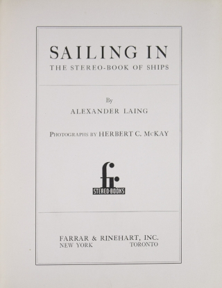 Sailing In. The Stereo-Book of Ships