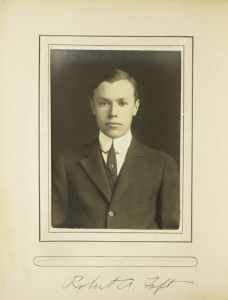 Skull and Bones. Edward H. (Ted) Coy's copy signed by him below his photograph. Captain of the Yale Football team in 1909 and a charter member of the Football Hall of Fame
