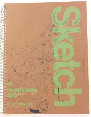 Two sketch books and loose pages containing original drawings and concept artwork. Sam Simon