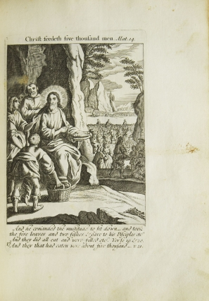 The Holy Bible in Sculpture; or, The History's mentioned in the Old and New Testament lively represented in copper cutts. [Interleaved with: The Holy Bible. London: Printed for Moses Pitt, ca. 1683]