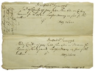 "Autograph Document Signed (""Wm Williams, Clerk""), to Connecticut Committee of Pay Table. William Williams."