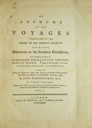 An Account of the Voyages Undertaken by the Order of His Present Majesty for Making Discoveries...