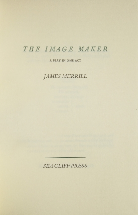 The Image Maker. A Play in One Act