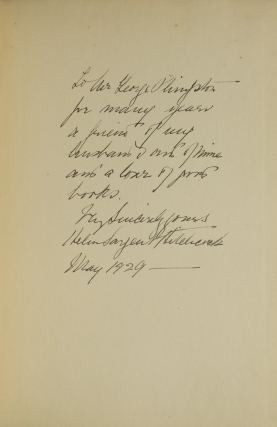 A Letter from George Inness to Ripley Hitchcock