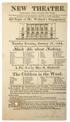 New Theatre ... Tuesday Evening, January 21, 1823, Will be presented, (by particular desire)...