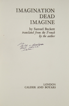 Imagination Dead Imagine...translated from the French by the author
