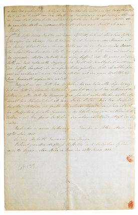 "[Manuscript in German of Kossuth's Appeal for Hungarian Freedom, Titled ""An Das Freie Volk der Vereinigten-Nord-Amerikanischen Staaten,"" Prepared By Ladislaus Ughazi, a Hungarian Exile Living in New-Buda, Iowa]"