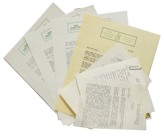 2 autograph letters signed, 4 typed letters signed, and 1 typed letter, to William Targ