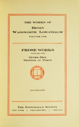 The Works of Henry Wadsworth Longfellow