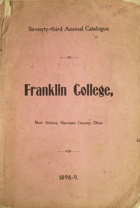 Seventy-third Annual Catalogue Franklin College. Franklin College