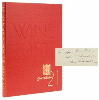 Jack & Charlie's 21 Wine List. 21 CLUB WINE LIST, Maxwell A. Kriendler