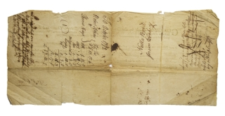 Document Signed for the recovery of a debt owed by Thomas Hayslack to Robert Atkins in Bedford County, Pa