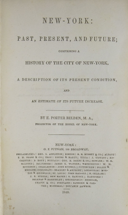 New York, Past, Present and Future. WITH: New York as it Is. WITH: The American Advertiser