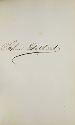 Autograph album with photographs and inscriptions of Albany Law School Class of 1860 and faculty