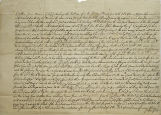 A group of 4 manuscript legal documents, deeds relating to land transactions in New York