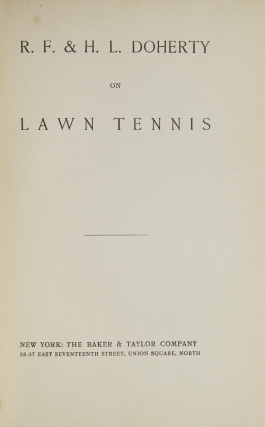 On Lawn Tennis: The Game of Nations
