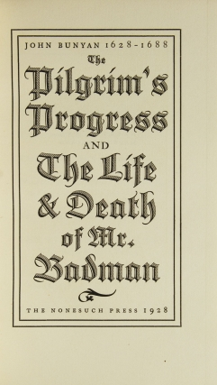 The Pilgrim's Progress and The Life and Death of Mr. Badman