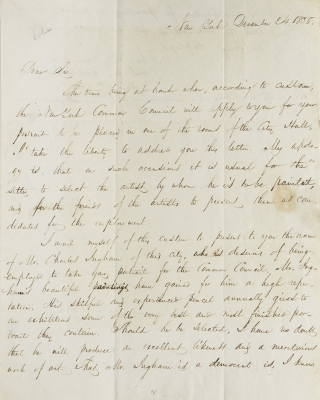 ALS. To Hon. William Marcy, Albany. William Cullen Bryant