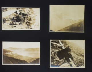 Typescript diary and photograph album of a 1915 hunting expedition to British Columbia