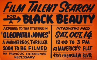 Archive related to the casting of the landmark film, Cleopatra Jones