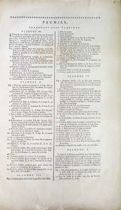 Paumier. Contenant neuf planches. [And:] Paulmerie. [Extracted from: Encyclopedie, ou...