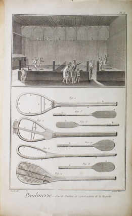 Paumier. Contenant neuf planches. [And:] Paulmerie. [Extracted from: Encyclopedie, ou Dictionnaire Raisonné des Sciences, des Arts et des Métiers. Recueil de Planches, sur les Sciences, les Arts Libéraux, et les Arts]