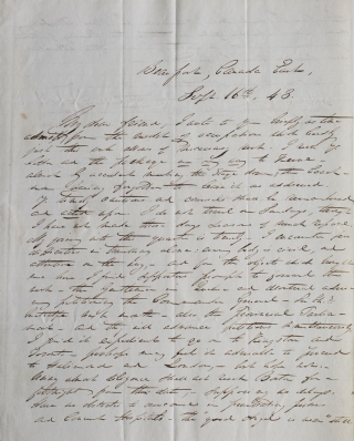 A collection of 16 ALS, being received correspondence from various New England thinkers and educators