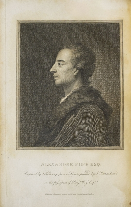 The Works of Alexander Pope, Esq. in Nine Volumes, Complete, withy Notes and Illustrations by Joseph Warton, D.D. and others WITH: His Translations of The Iliad and The Odyssey of Homer...A New Edition, with additional , critical and Illustrative by Gilbert Wakefield in 11 volumes printed by H. Baldwin for T. Longman, B. Law, et al