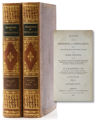 An Essay on the Principle of Population; or, a view of its past and present effects on human...