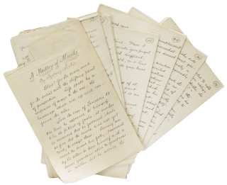 "A Medley of Moods. Author's Autograph Manuscript, signed on the first leaf: ""By..."