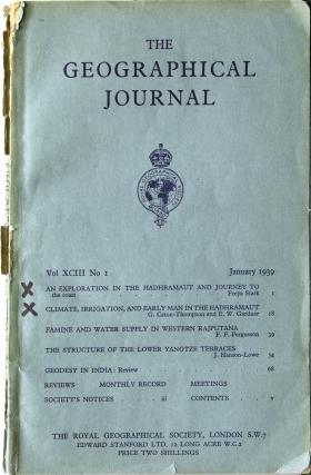 An Exploration in the Hadhramaut and Journey to the Coast [in:] The Geographical Journal, Vol....