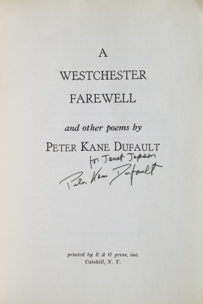 A Westchester Farewell and other poems
