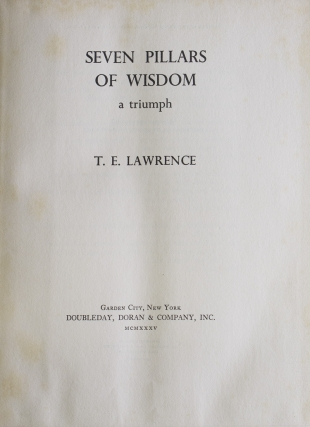 Seven Pillars of Wisdom. A Triumph