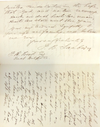 "Autograph letter signed (""F.B. Sanborn"") to Francis William Bird (""My dear Friend"")"