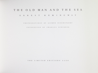 The Old Man and the Sea. Introduced by Charles Scribner