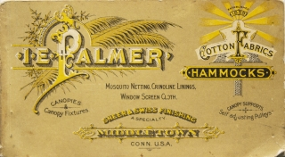 Illustrated Catalog, Price List and Treatise on Hammocks. Isaac E. Palmer