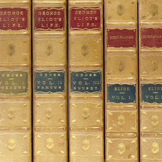 Collection of first editions of her major works, uniformly bound. George Eliot