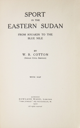 Sport in the Eastern Sudan from Souakin to the Blue Nile