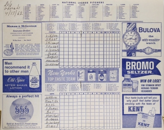Mets First Home Game Program at the Polo Grounds April 13, 1962. [WITH:] Mets First Year Book 1962
