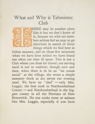What and Why is Tabusintac Club? [Drop title]