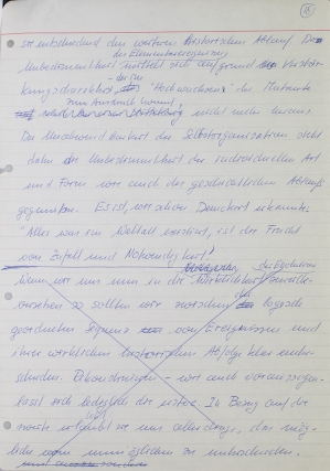 """Leben. Autograph Manuscript, signed (""""Manfred Eigen"""") at head of first page"""