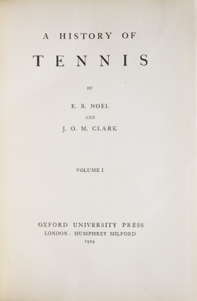 A History of Tennis