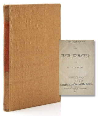 General Laws of the Tenth Legislature of the State of Texas. Texas