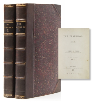 The Professor by Currer Bell. Charlotte Bronte