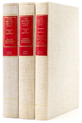 The Henry Davis Gift. A Collection of Bookbindings. Volume I: Studies in the History of Bookbinding [and:] … Volume II: A Catalogue of North-European Bindings [and:] … Volume III: A Catalogue of South European Bindings