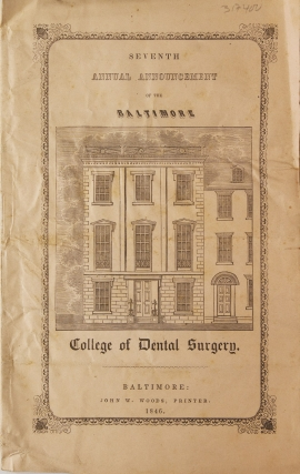Third Annual Announcement of the New-York College of Dental Surgery, Syracuse, N.Y. Session of 1853-54