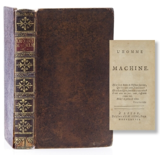 L'Homme Machine Bound With: L'Homme plus que Machine A londres [Holland?]: [n.p.] 1748. Julien...